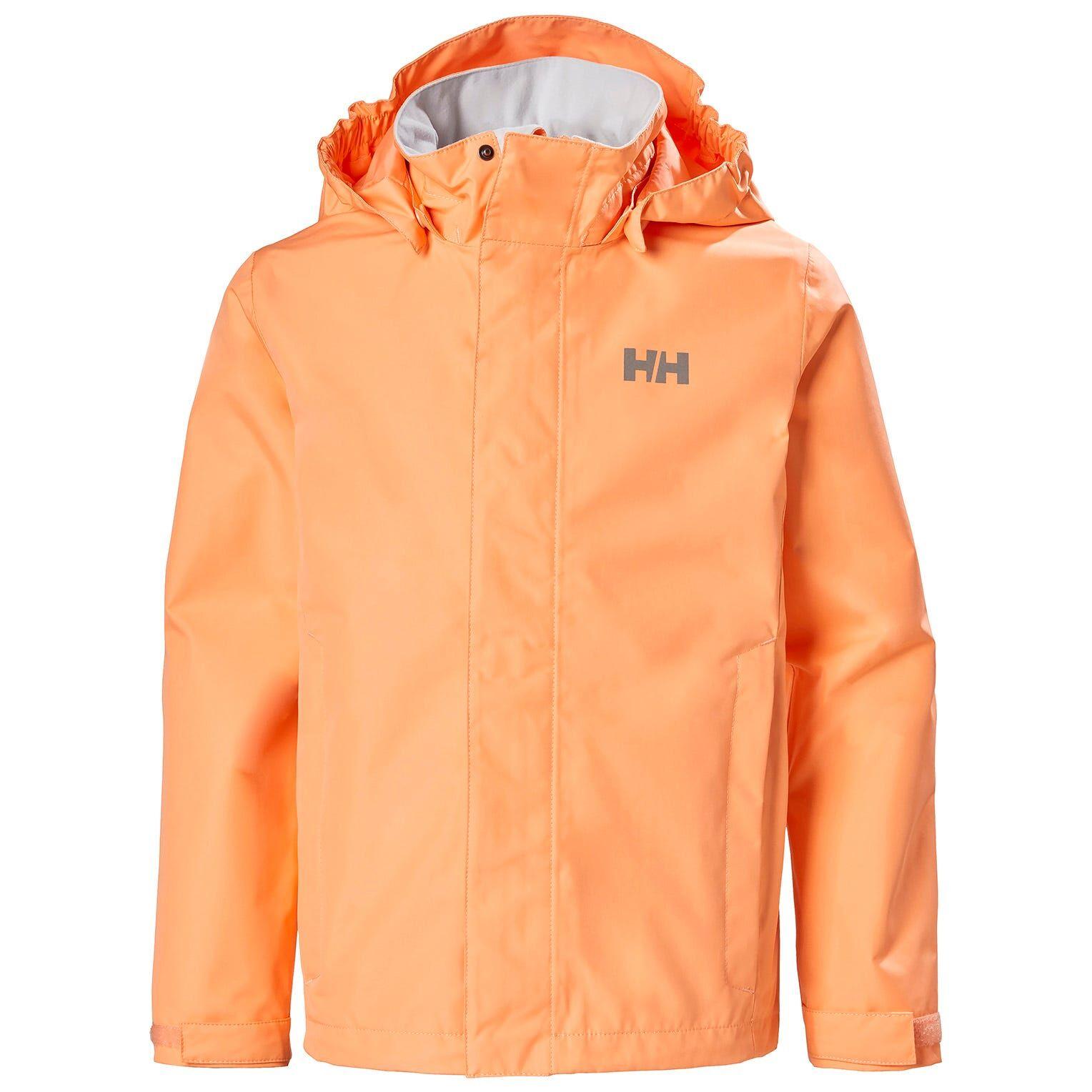 Helly Hansen Junior Seven J Rain Jacket With Hood Orange 164/14