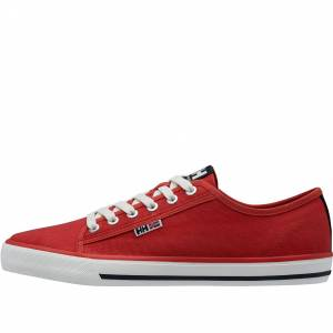 Helly Hansen Mens Fjord Canvas Shoe V2 Casual Red 12.5