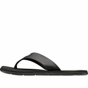 Helly Hansen Womens Seasand Leather Sandal Casual Shoe Black 5