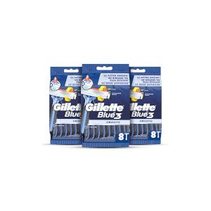 Gillette Blue3 Disposable Razors (24 Pack - 3 Month)