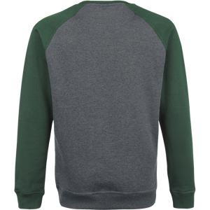 Urban Classics 2-Tone Raglan Crewneck Sweatshirt charcoal green  - charcoal - Size: 5X-Large