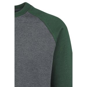 Urban Classics 2-Tone Raglan Crewneck Sweatshirt charcoal green  - charcoal - Size: 3X-Large