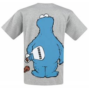 Sesame Street Cookie Monster -Cookie thief T-Shirt mottled grey  - mottled grey - Size: 4X-Large