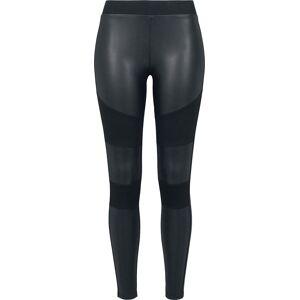 Urban Classics Ladies Fake Leather Tech Leggings Leggings black  - black - Size: 2X-Large