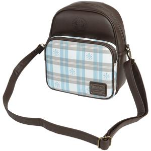 Harry Potter Loungefly - Hogwarts Mini backpacks brown light blue  - brown - Size: Onesize