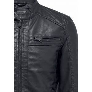 ONLY and SONS AL Jacket Imitation Leather Jacket black  - black - Size: Small