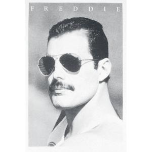 Queen Freddie Mercury - Sunglasses T-Shirt white  - white - Size: Large