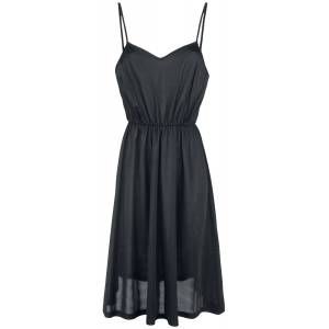 Voodoo Vixen Blanca Chiffon Rose Flocking Dress Medium-length dress black  - black - Size: 4X-Large