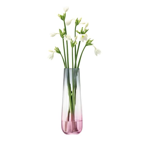 LSA Dusk Vase 36cm Pink & Grey