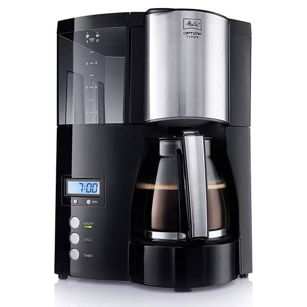 Melitta Optima Timer Black Filter Coffee Machine