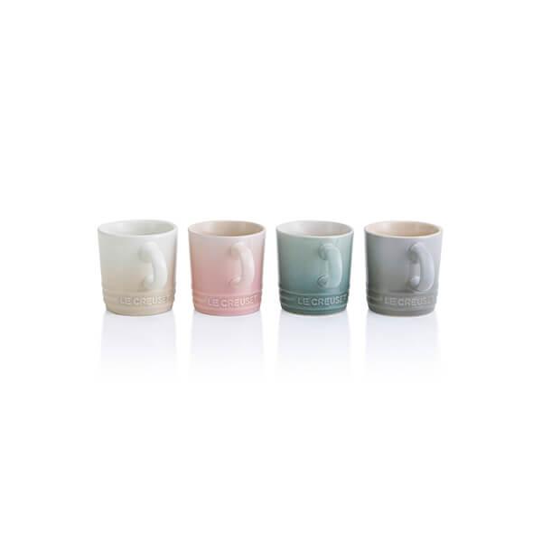 Le Creuset Calm Collection Set of 4 Espresso Mugs