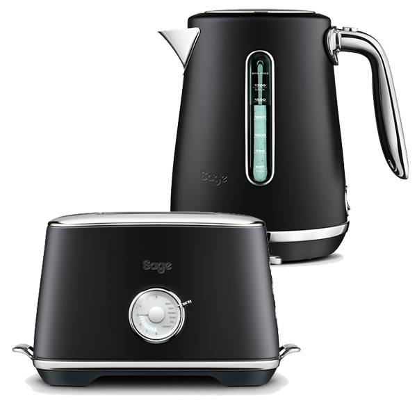 Sage Kettle & Toaster Set Select Luxe Black Truffle