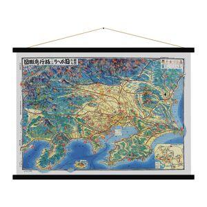 Blue Shaker - Tokyo Vintage Map Print