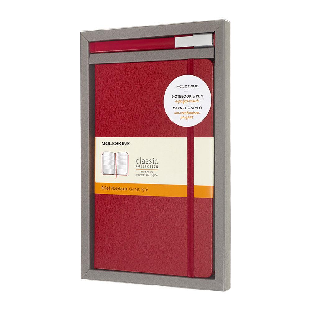 Moleskine - Bundle Notebook & Pen Set - Red