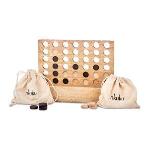 Nkuku - Mango Wood Row of Four Game