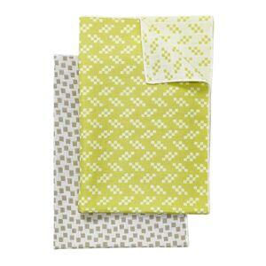 Areaware - Assorted Printed Tea Towel - Set of 2 - Grey & Yellow
