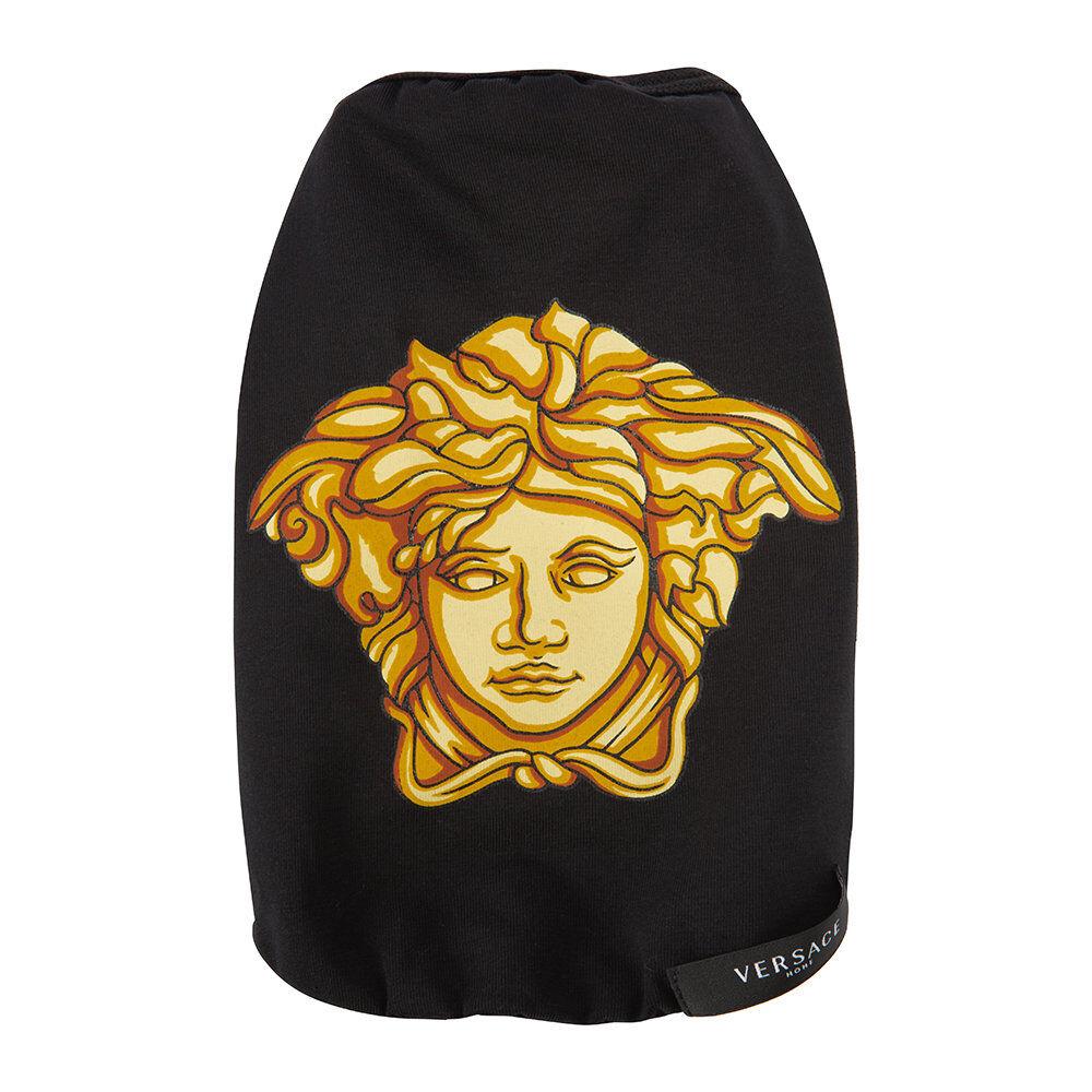 Versace Home - Medusa Dog T-Shirt - Black/Gold - Medium