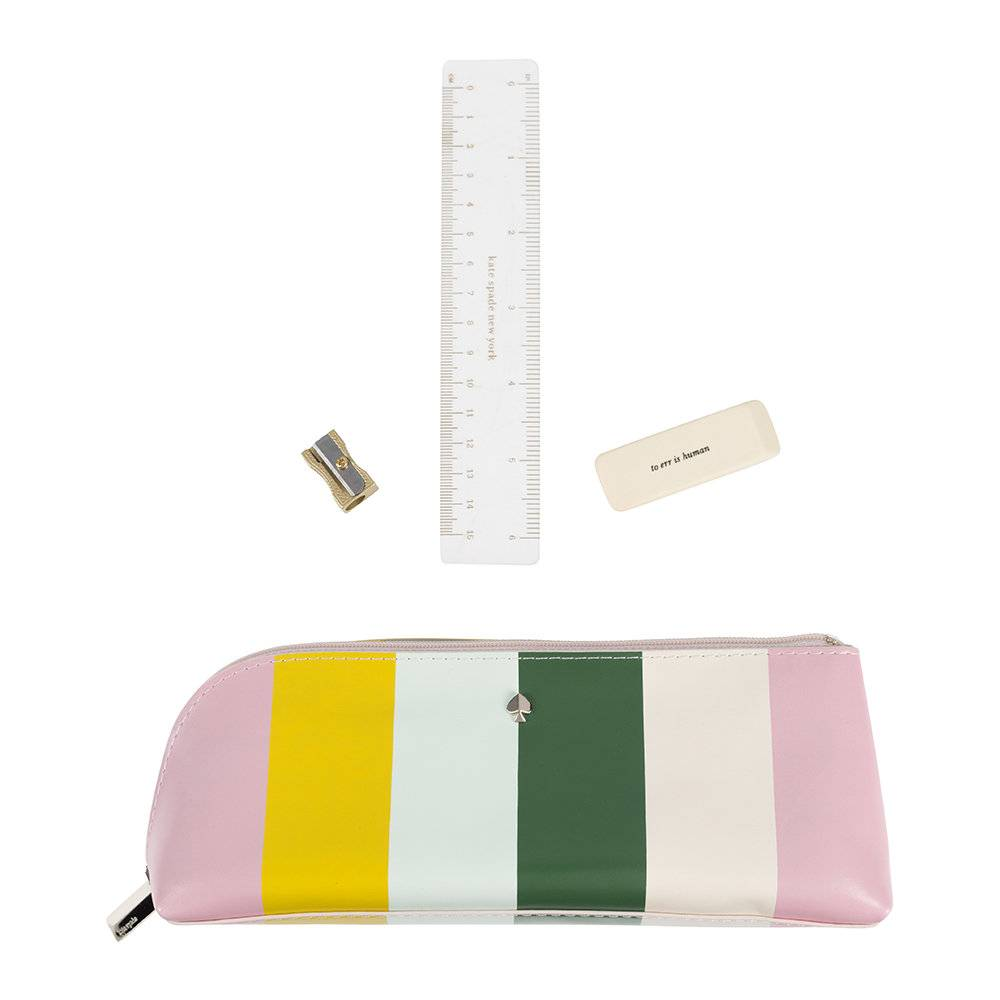 kate spade new york - Multi Stripe Pencil Case