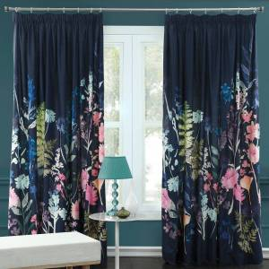 Bluebellgray - Peggy Midnight Pleat Curtains - 228x182cm