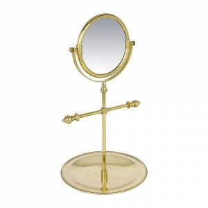 A by AMARA - Freestanding Mirror with Jewellery Tray - Antique Gold