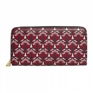 Liberty London - Iphis Large Zip Wallet - Oxblood