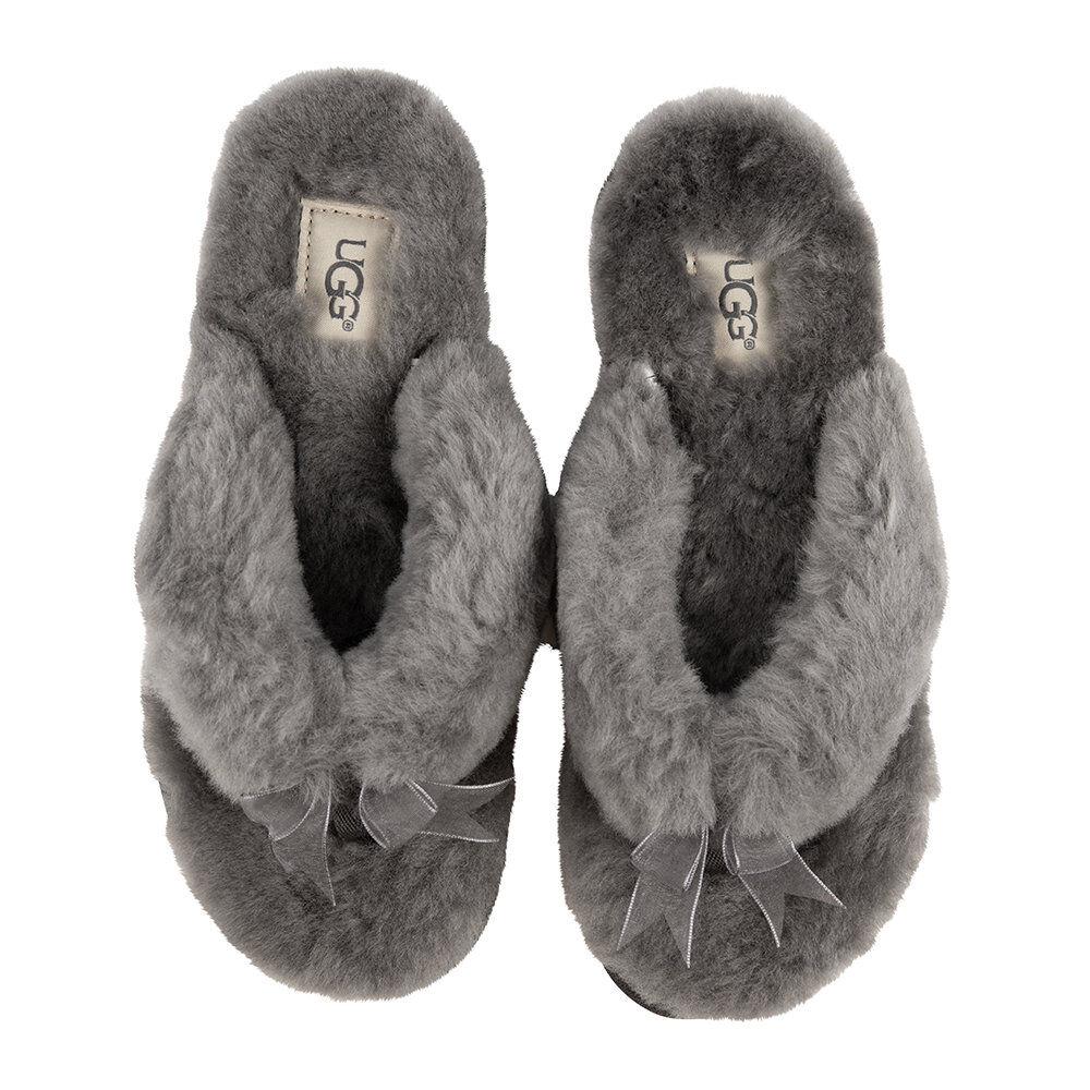 UGG® - Women's Fluff Flip Flop III Slippers - Grey - UK 6