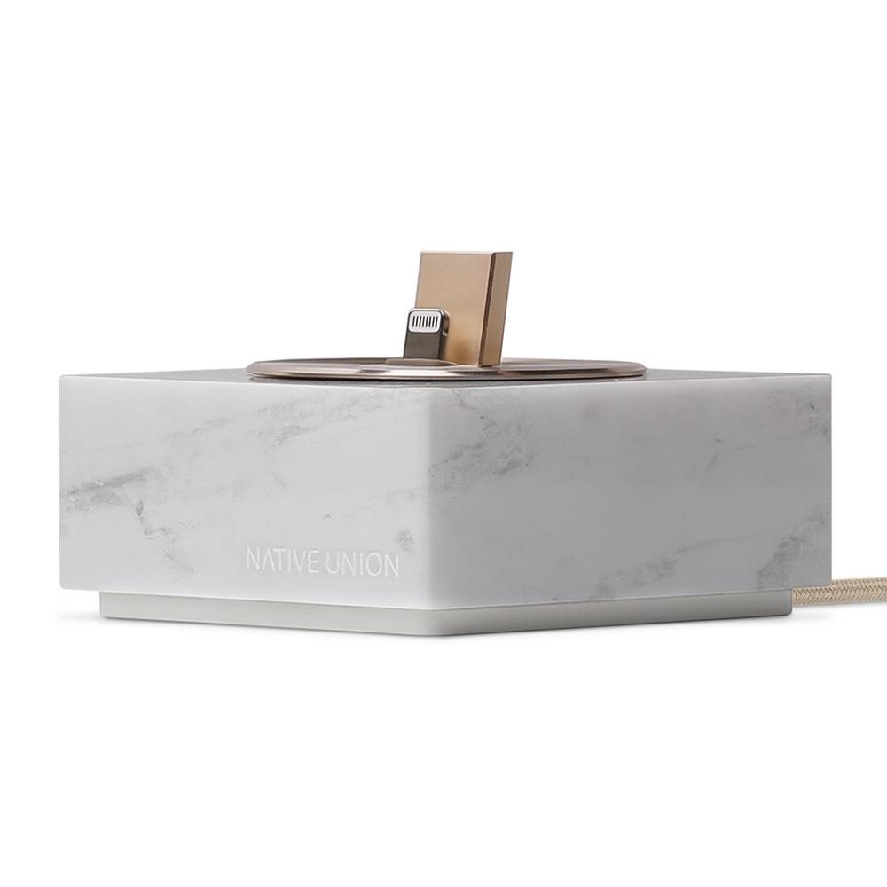 Native Union - Marble iPhone Dock - White