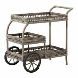 Sika-Design - James Outdoor Rattan Drinks Trolley - Grey