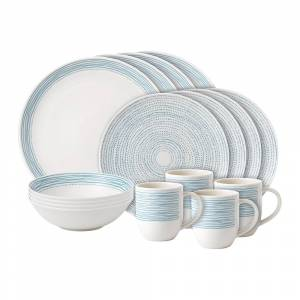 Royal Doulton - Ellen DeGeneres 16 Piece Set - Polar Blue Dots