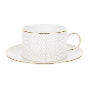 Wedgwood - Arris Teacup & Saucer - White