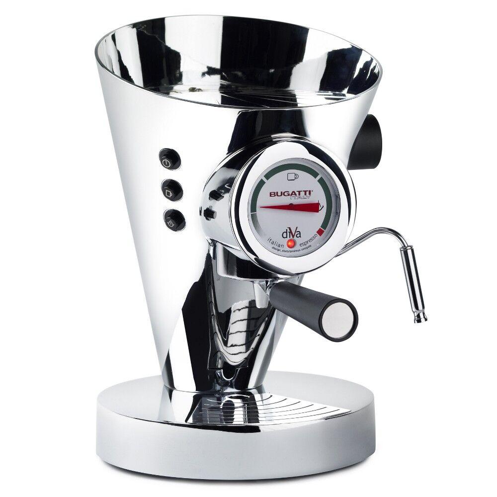 Casa Bugatti - Diva Coffee Machine - Chrome