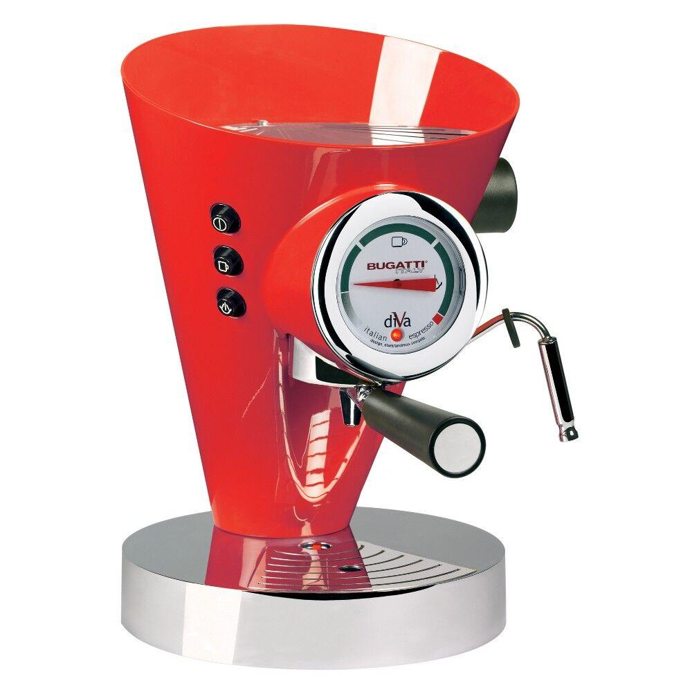 Casa Bugatti - Diva Coffee Machine - Red