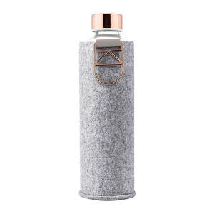 Equa - Mismatch Water Bottle with Felt Cover - Rose Gold
