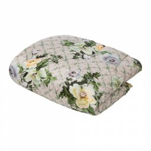 Preen by Thornton Bregazzi - Printed Floral Eiderdown - Black Lotus Flower/Osaka Floral Green - 230x220cm
