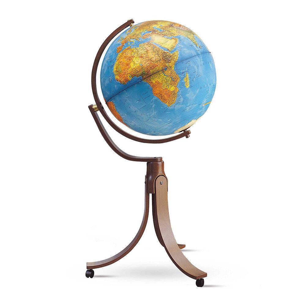 National Geographic - Emily Illuminated Hardwood Globe - 50cm - Blue