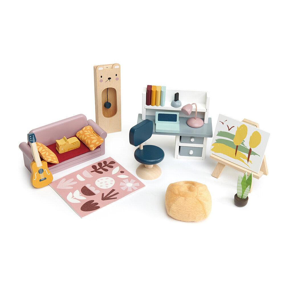 Tender Leaf Toys - Kids Dolls House Study Furniture