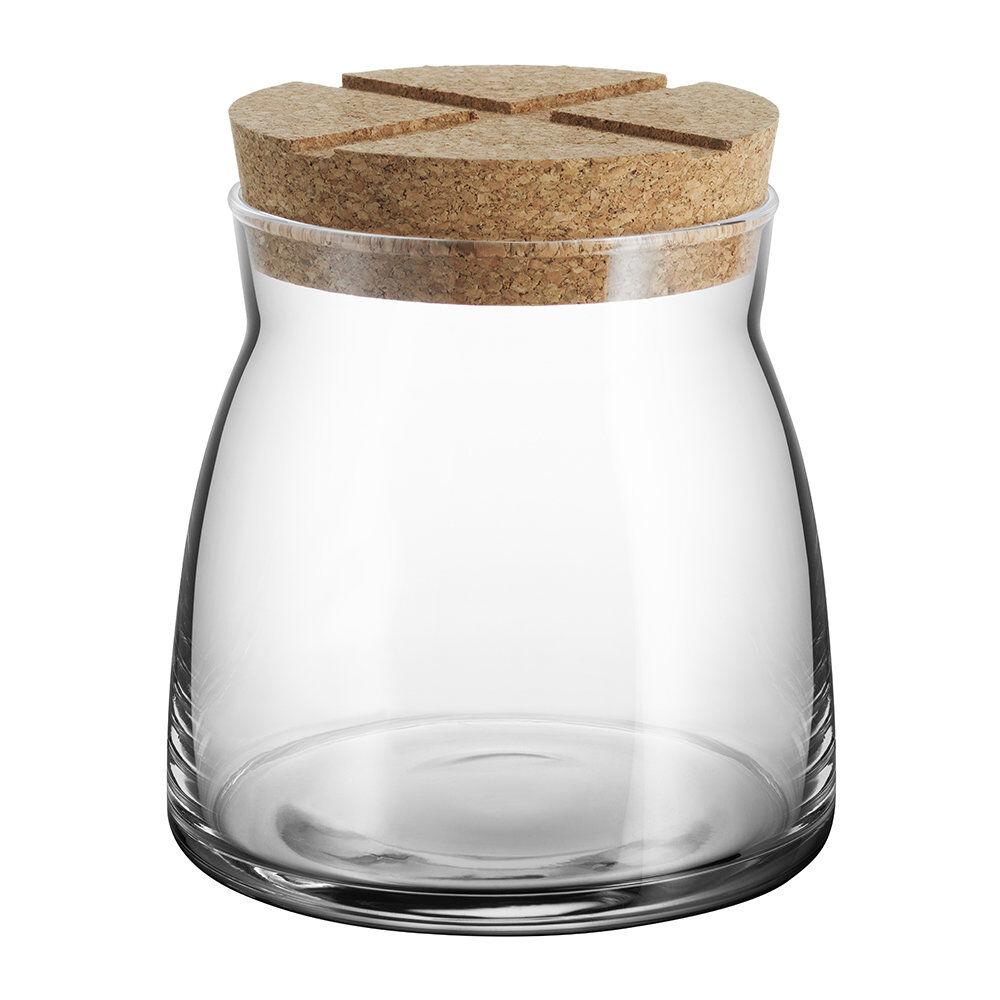 Kosta Boda - Bruk Clear Jar with Cork Lid - Clear - Medium