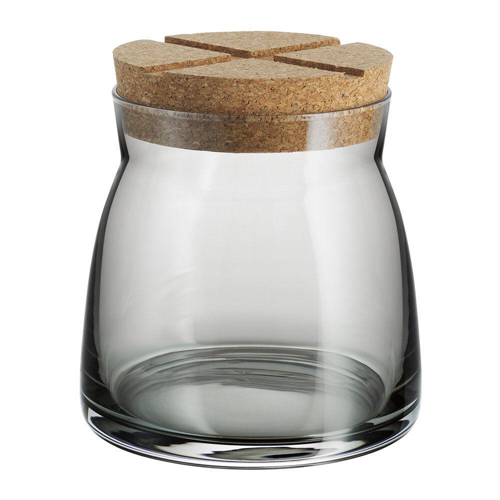 Kosta Boda - Bruk Clear Jar with Cork Lid - Grey - Medium