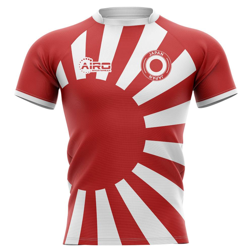 Airo Sportswear 2020-2021 Japan Flag Concept Rugby Shirt - Womens - Red - female - Size: XXL - UK Size 18
