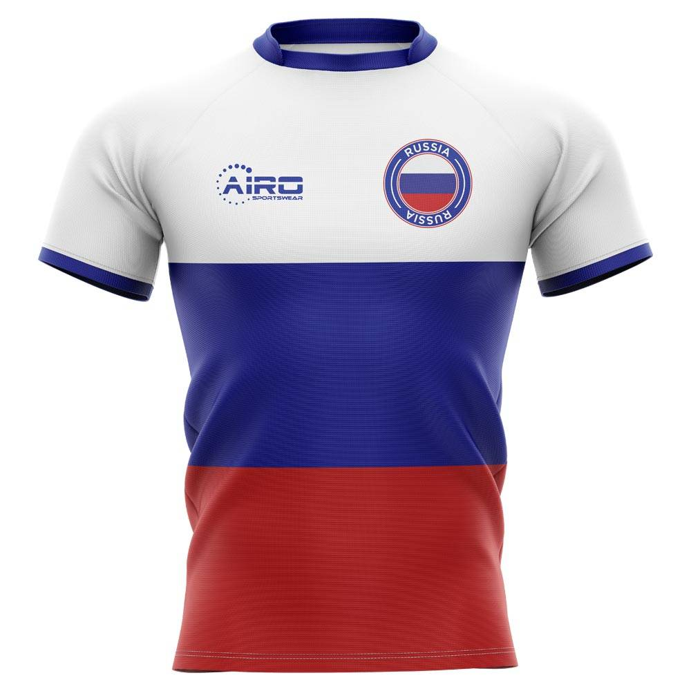Airo Sportswear 2020-2021 Russia Flag Concept Rugby Shirt - Womens - White - female - Size: Small - UK Size 10