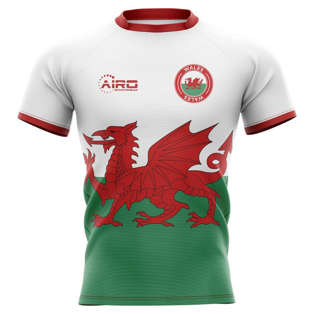 Airo Sportswear 2020-2021 Wales Flag Concept Rugby Shirt - Womens - White - female - Size: XXL - UK Size 18