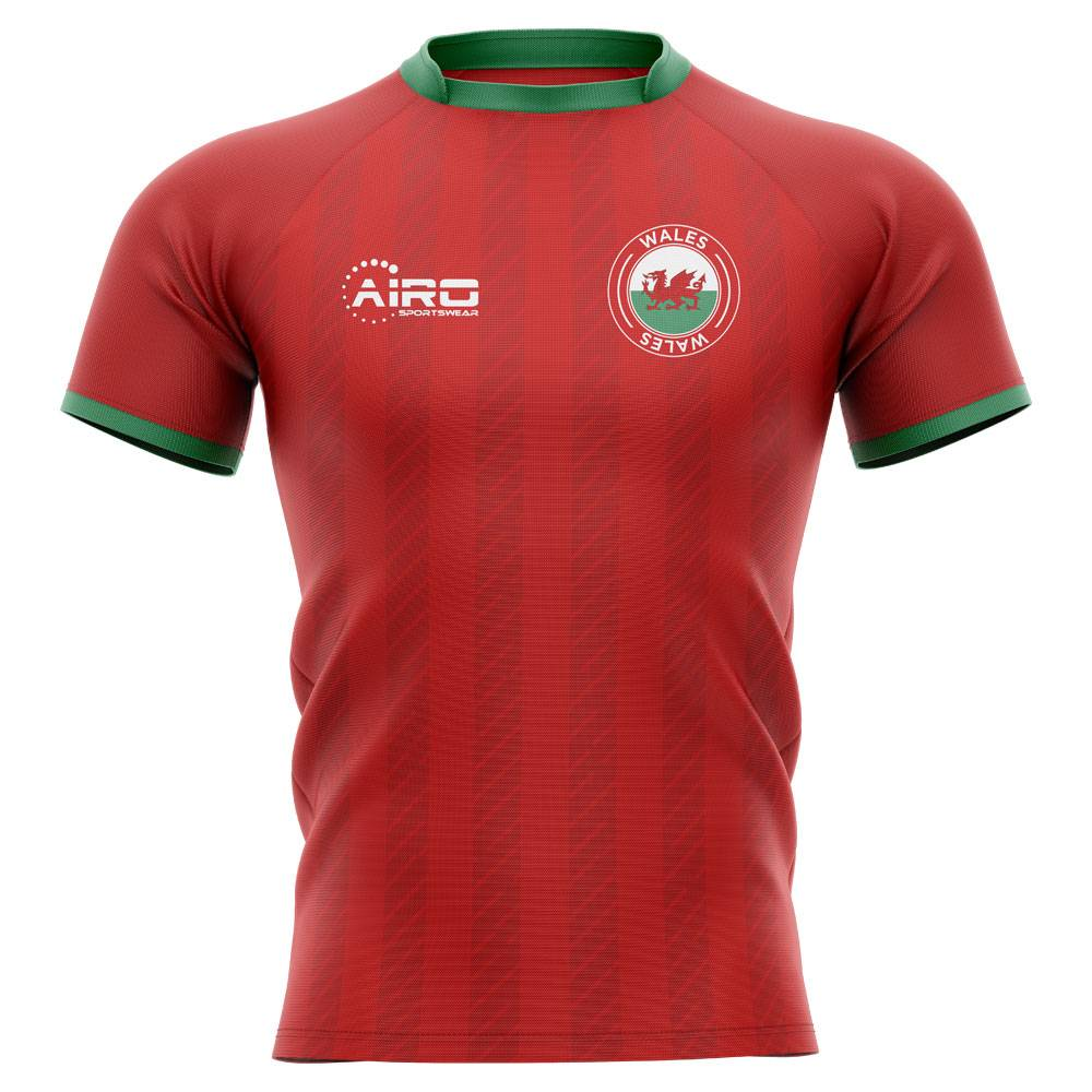 Airo Sportswear 2020-2021 Wales Home Concept Rugby Shirt - Womens - Red - female - Size: XL - UK Size 16