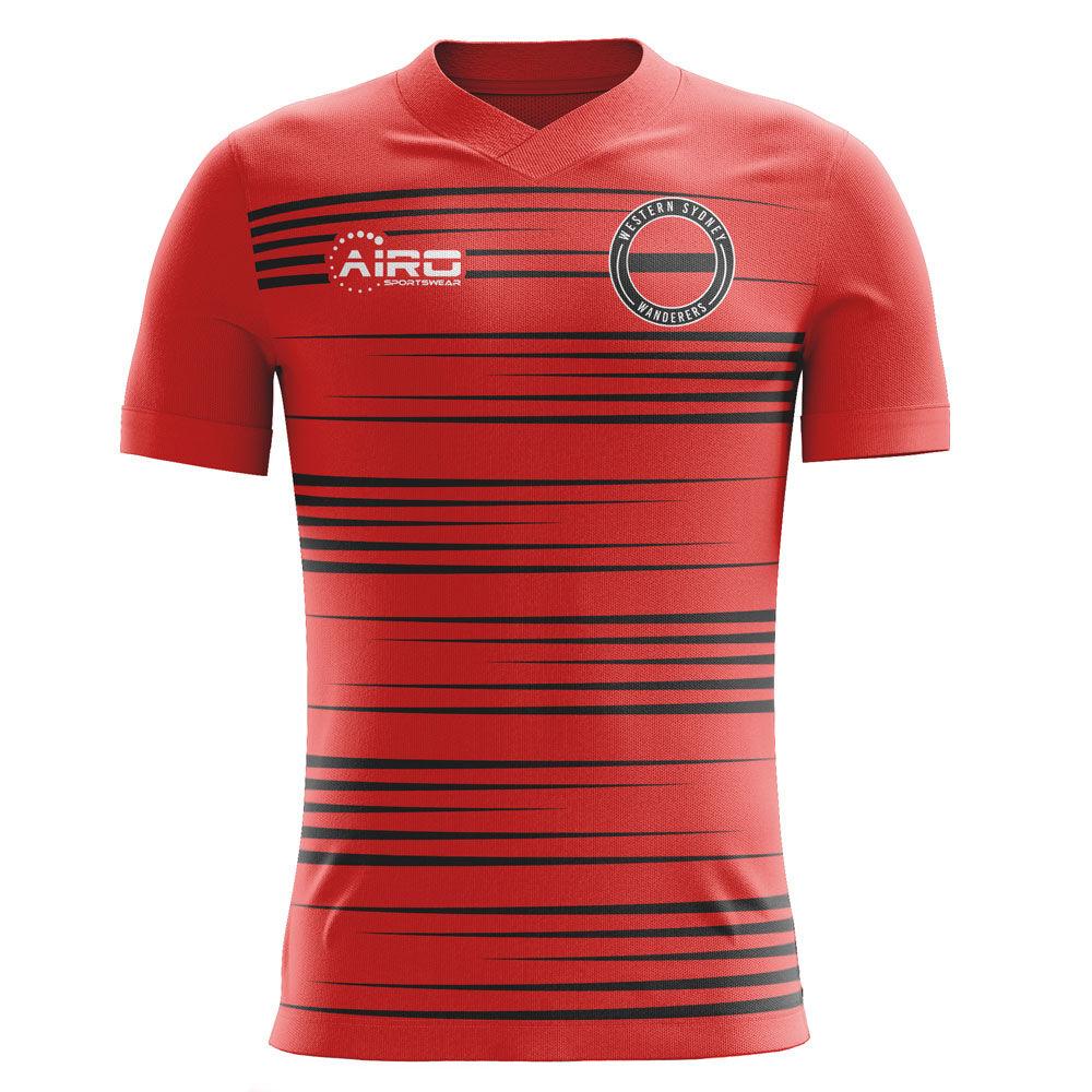 Airo Sportswear 2020-2021 Western Sydney Wanderers Home Concept Football Shirt - Womens - Red - female - Size: Medium - UK Size 12