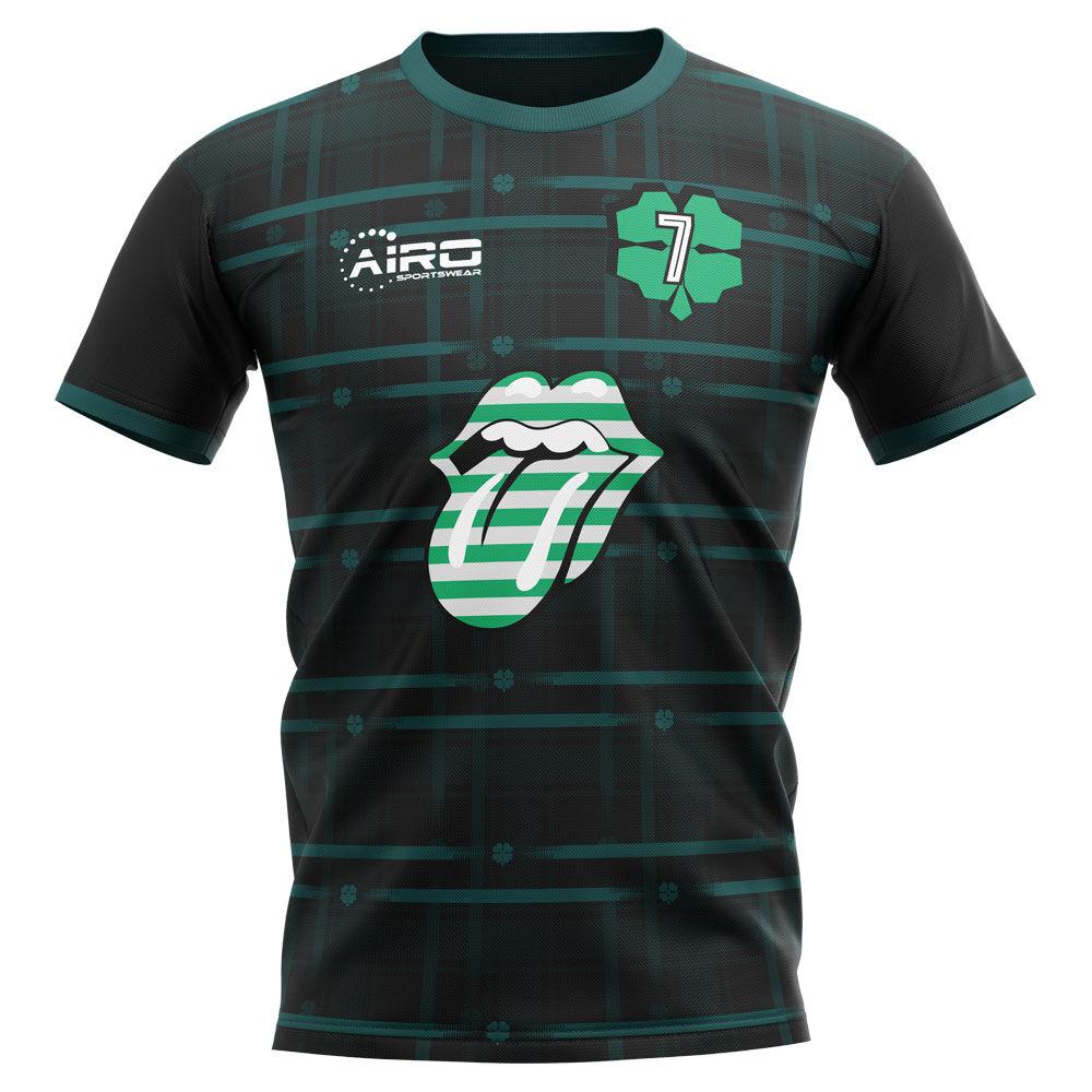 Airo Sportswear 2020-2021 Celtic Henrik Larsson Concept Football Shirt - Womens - Green - female - Size: Small - UK Size 10