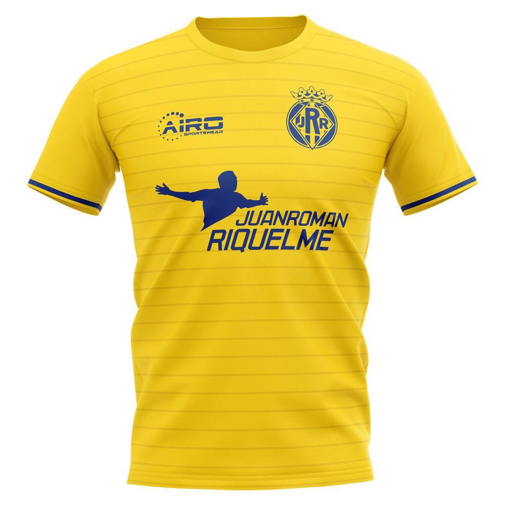 Airo Sportswear 2020-2021 Villarreal Juan Roman Riquelme Concept Football Shirt - Womens - Yellow - female - Size: XL - UK Size 16