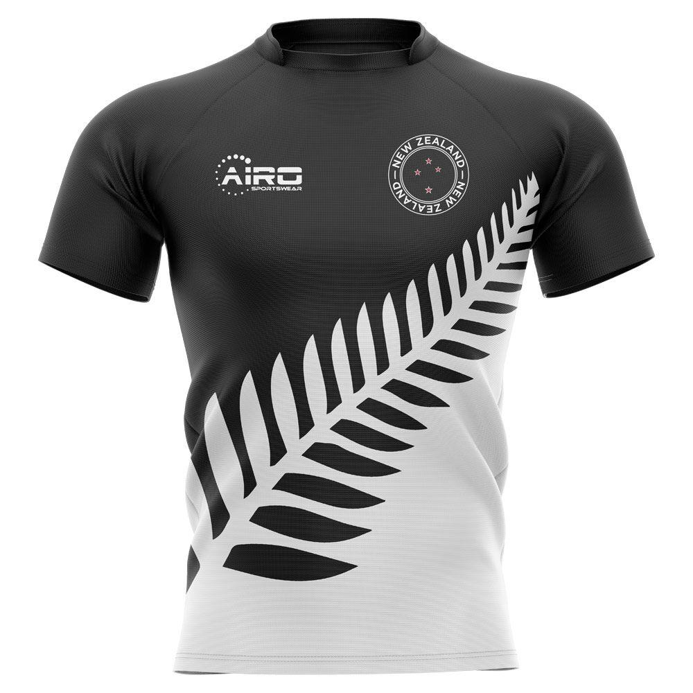 Airo Sportswear 2020-2021 New Zealand All Blacks Fern Concept Rugby Shirt - Womens - Black - female - Size: XXL - UK Size 18