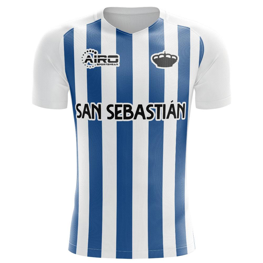 Airo Sportswear 2020-2021 Real Sociedad Home Concept Football Shirt - Womens - Blue - female - Size: Large - UK Size 14