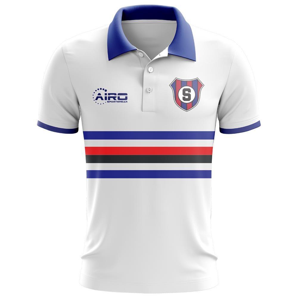 Airo Sportswear 2020-2021 Sampdoria Away Concept Football Shirt - Womens - White - female - Size: XXL - UK Size 18