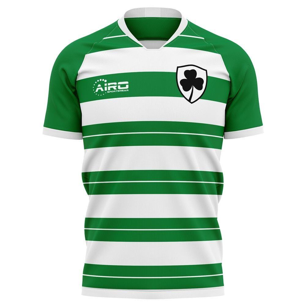 Airo Sportswear 2020-2021 Shamrock Rovers Home Concept Football Shirt - Womens - Yellow - female - Size: Medium - UK Size 12