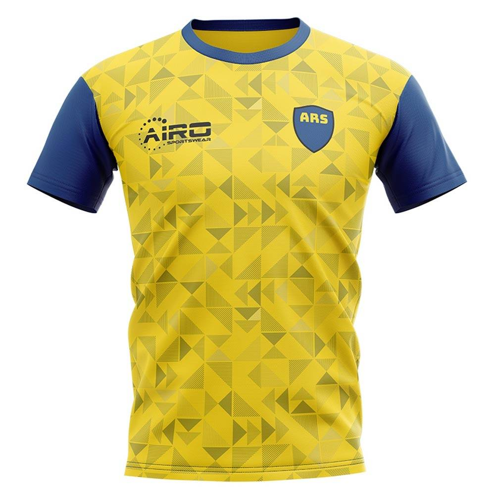 Airo Sportswear 2020-2021 North London Away Concept Football Shirt - Womens - Yellow - female - Size: Large - UK Size 14